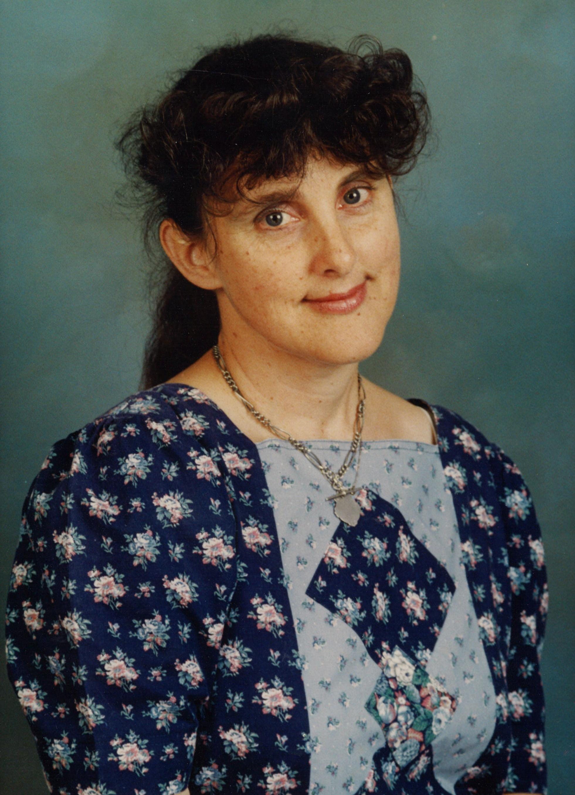 Marion Barter school teacher portrait.