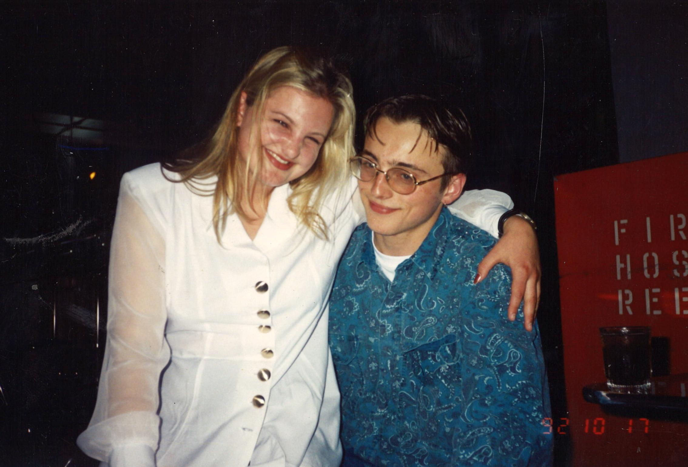 Marion's children Sally and Owen in 1992