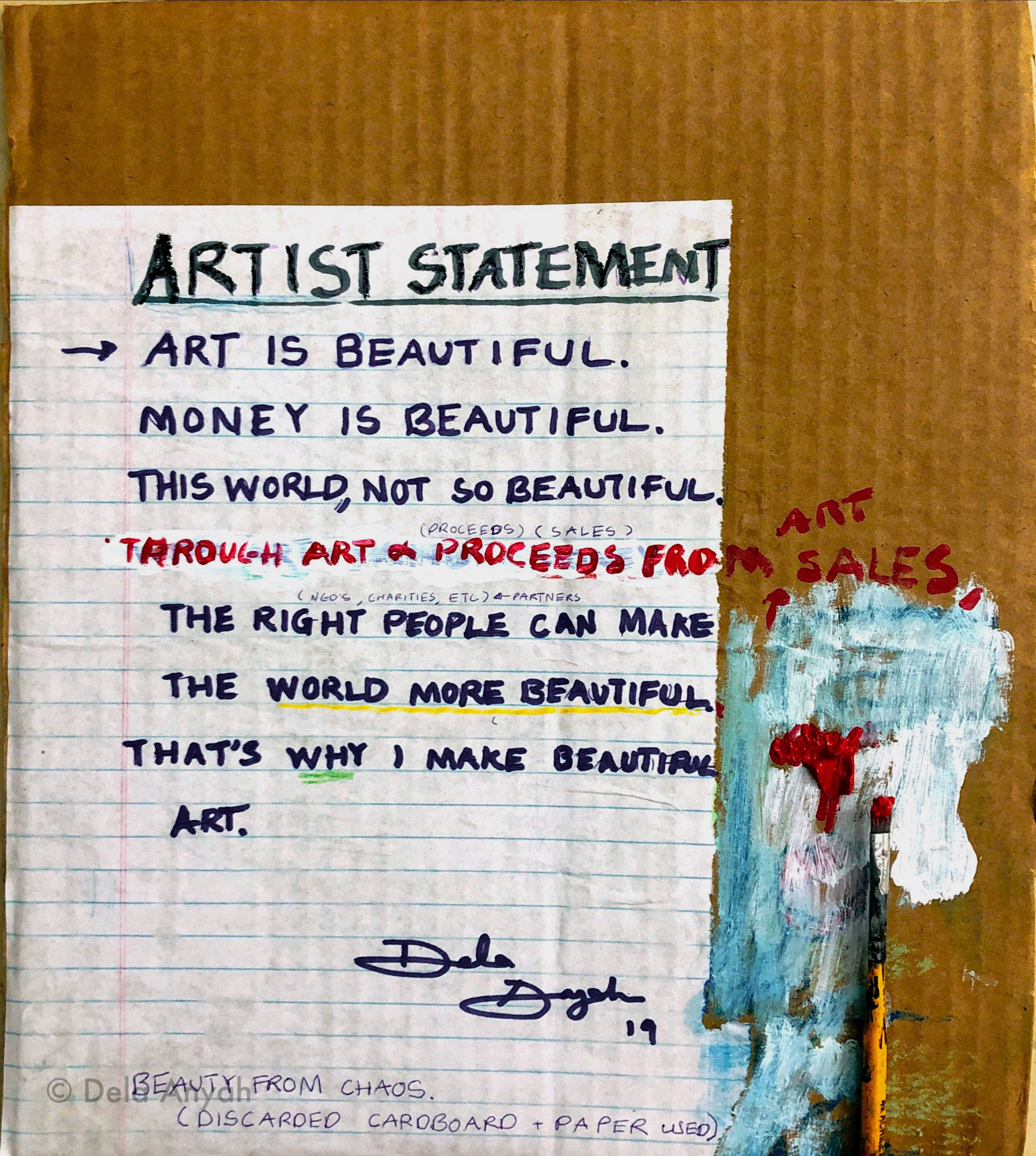 Dela Anyah's Artist Statement