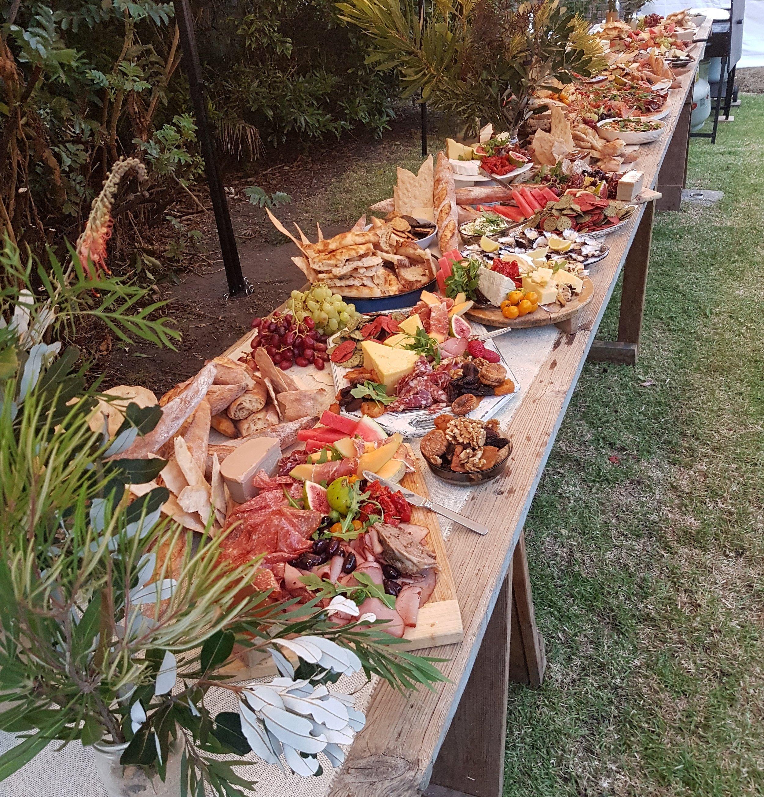 Eastwoods D&CS catering table.jpg