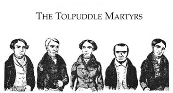 James Brine, Age 25; Thomas Stanfield, Age 51; John Stanfield, Age 25; George Loveless, Age 41; James Loveless, Age 29.  FIVE OF THE SIX TOLPUDDLE MARTYRS
