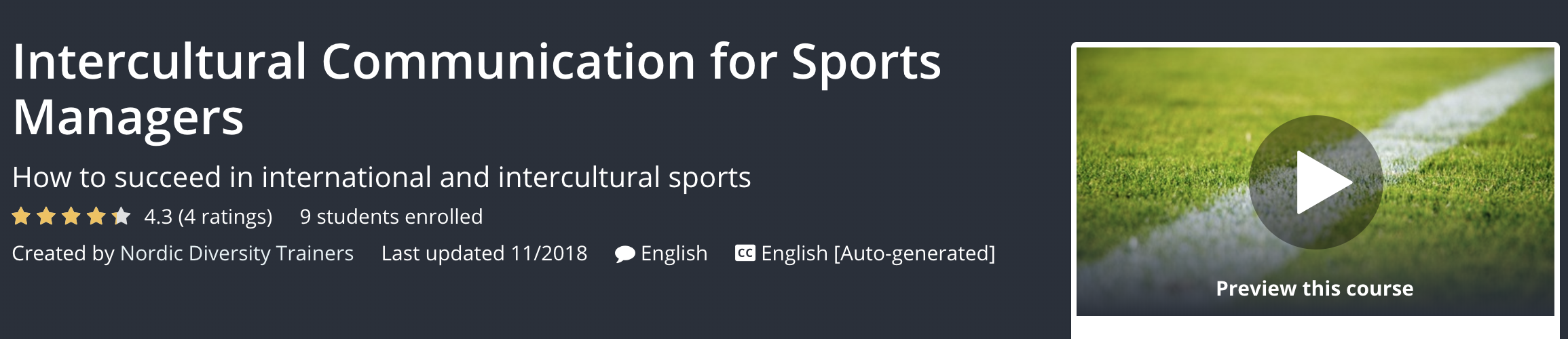 Intercultural Communication for Sports Managers