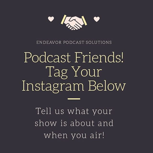 #podcastnetwork #podcastmovement #podcastjunkie #podcastlove #new #newpodcastalert #newepisode #podcastersofinstagram #entertainment #endeavorpodcastsolutions #applepodcasts #spotify #anchor #podcastshow #shepodcasts #tagyourfriends