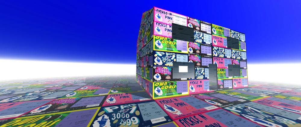"""""""Dream house"""" 1999, 3D Modelled image."""