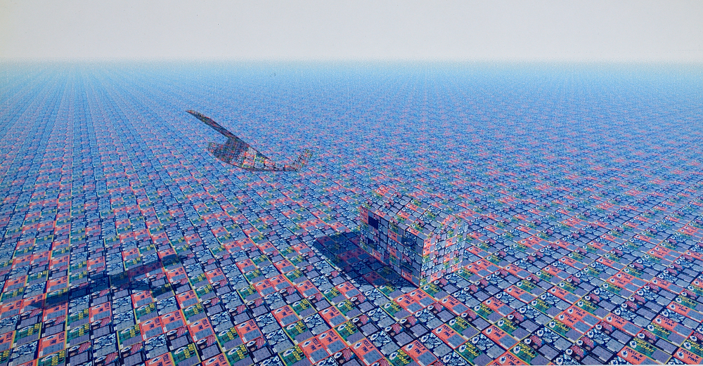 """""""Fly by"""",  1999,  3D Modelled image."""