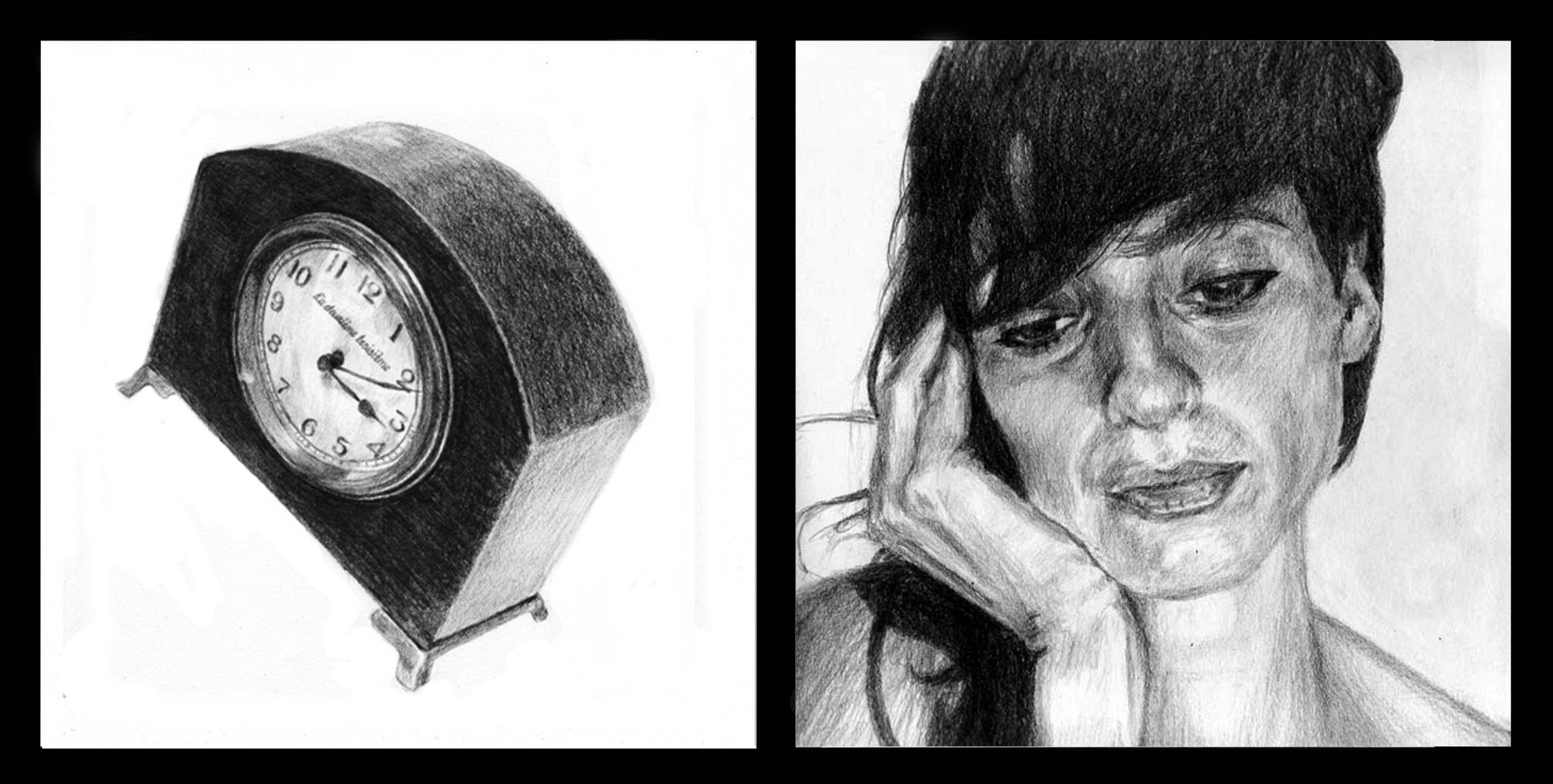 """Copy of """"Le deuxième troisième"""", Pencil on paper"""