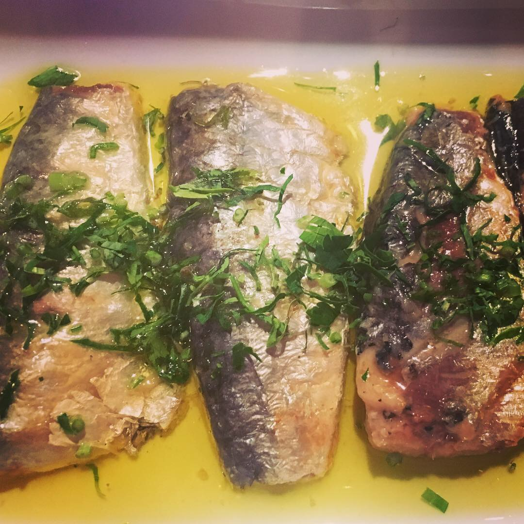 Fresh sardines at The Little Wine Bar in Lisbon