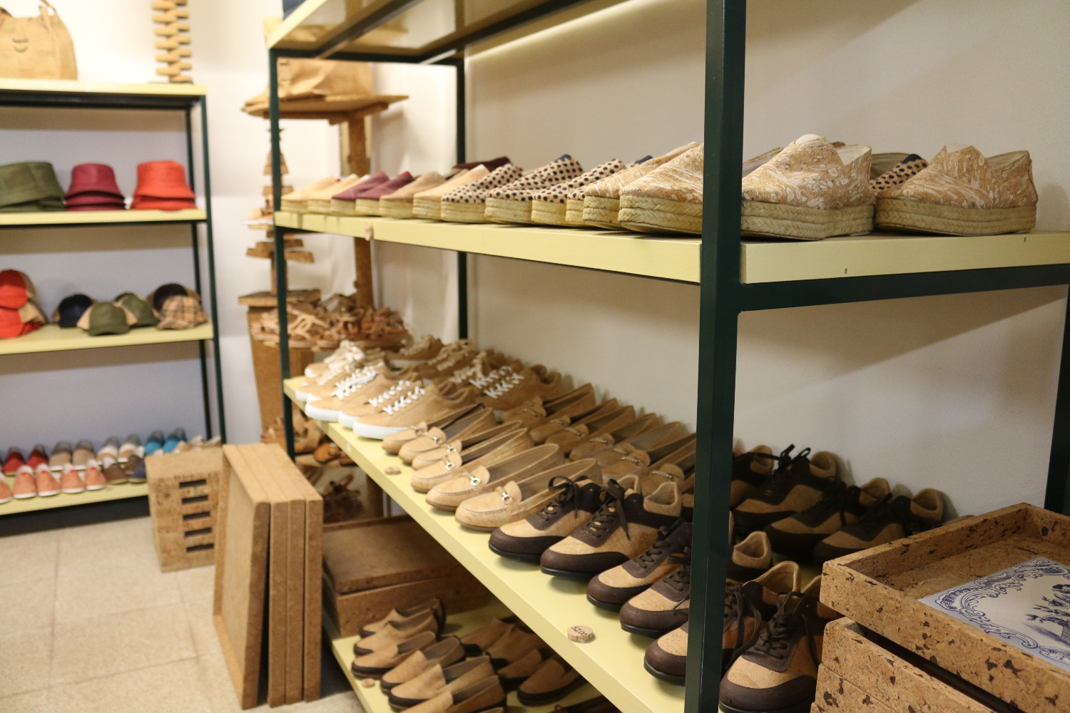 Shoes made from cork