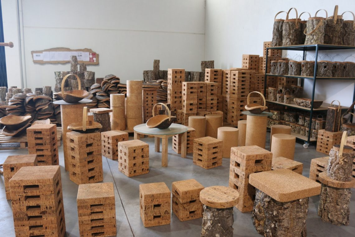 Furniture and housewares made from cork
