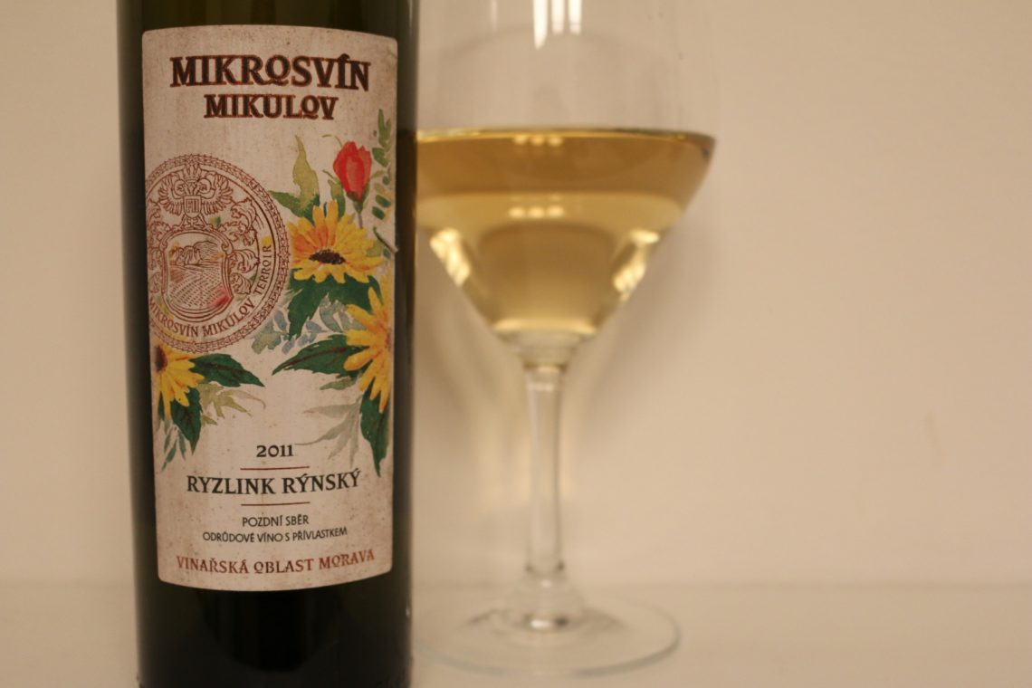 An excellent example of Moravian Rhine Riesling