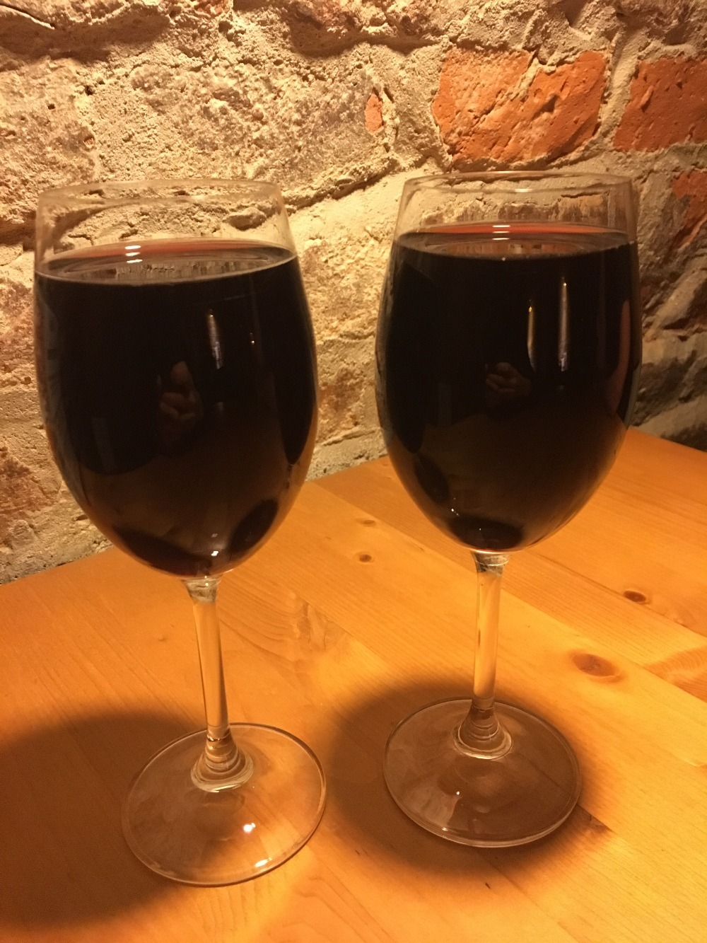 Quite a full glass pour at the neighborhood vinotéka
