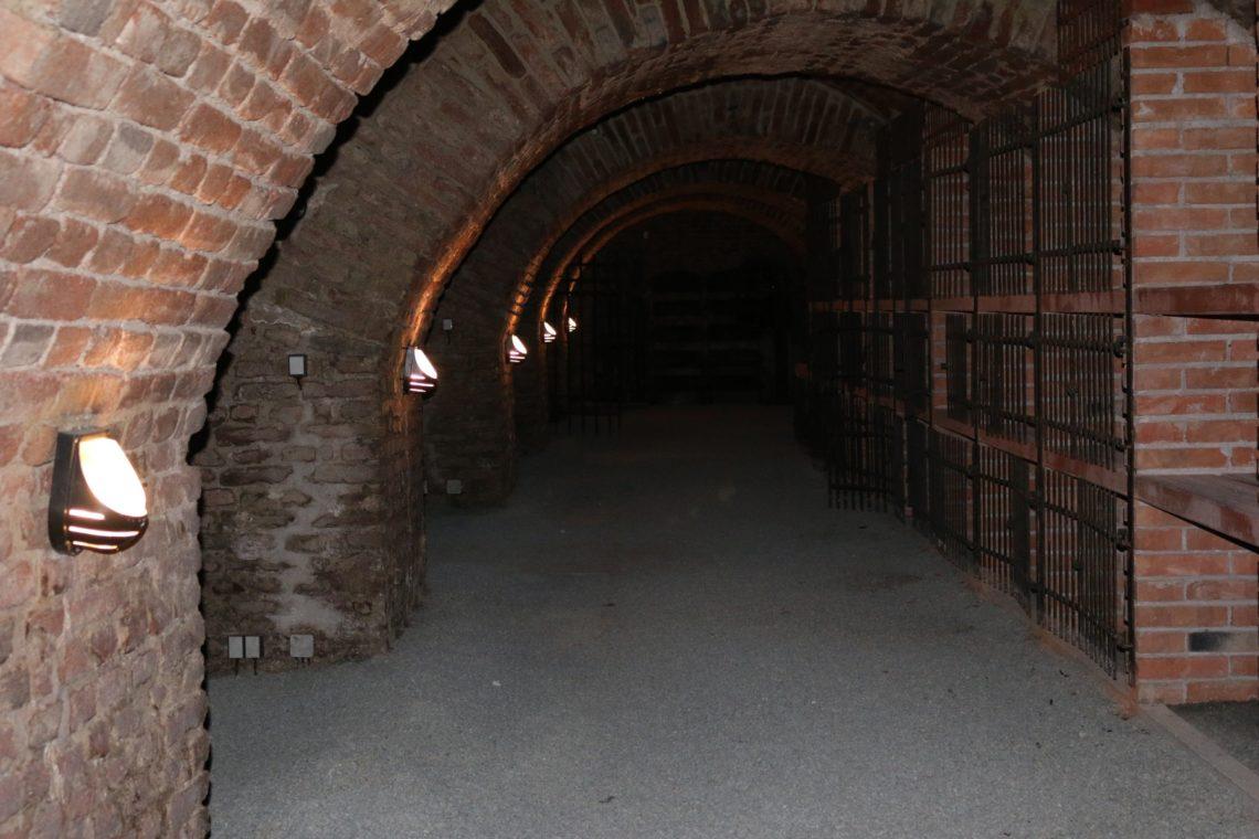 Underground wine cellar at  ZBar Brno