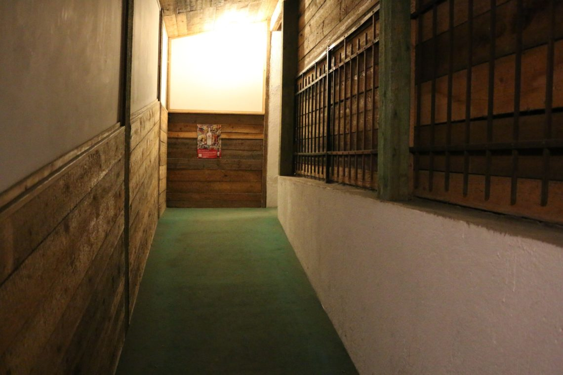 Hallway leading to the interior of  Vinný sklípek U Žíznivého mnicha