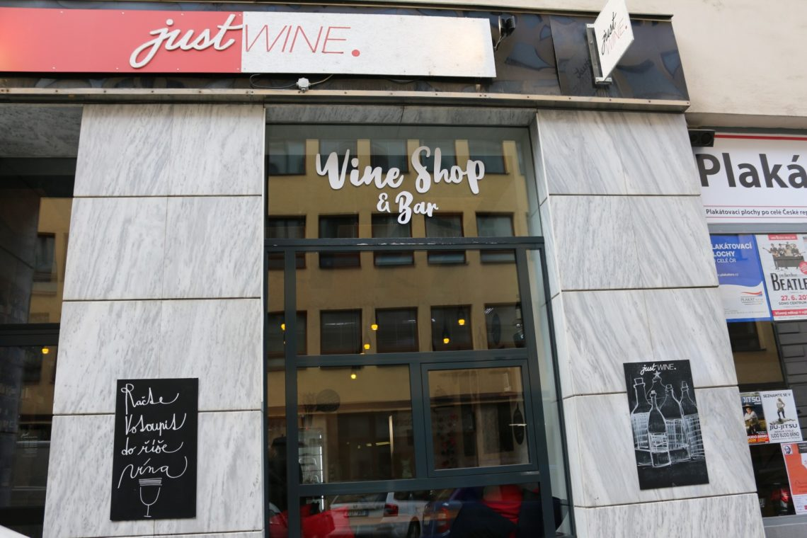 The façade of  Just Wine