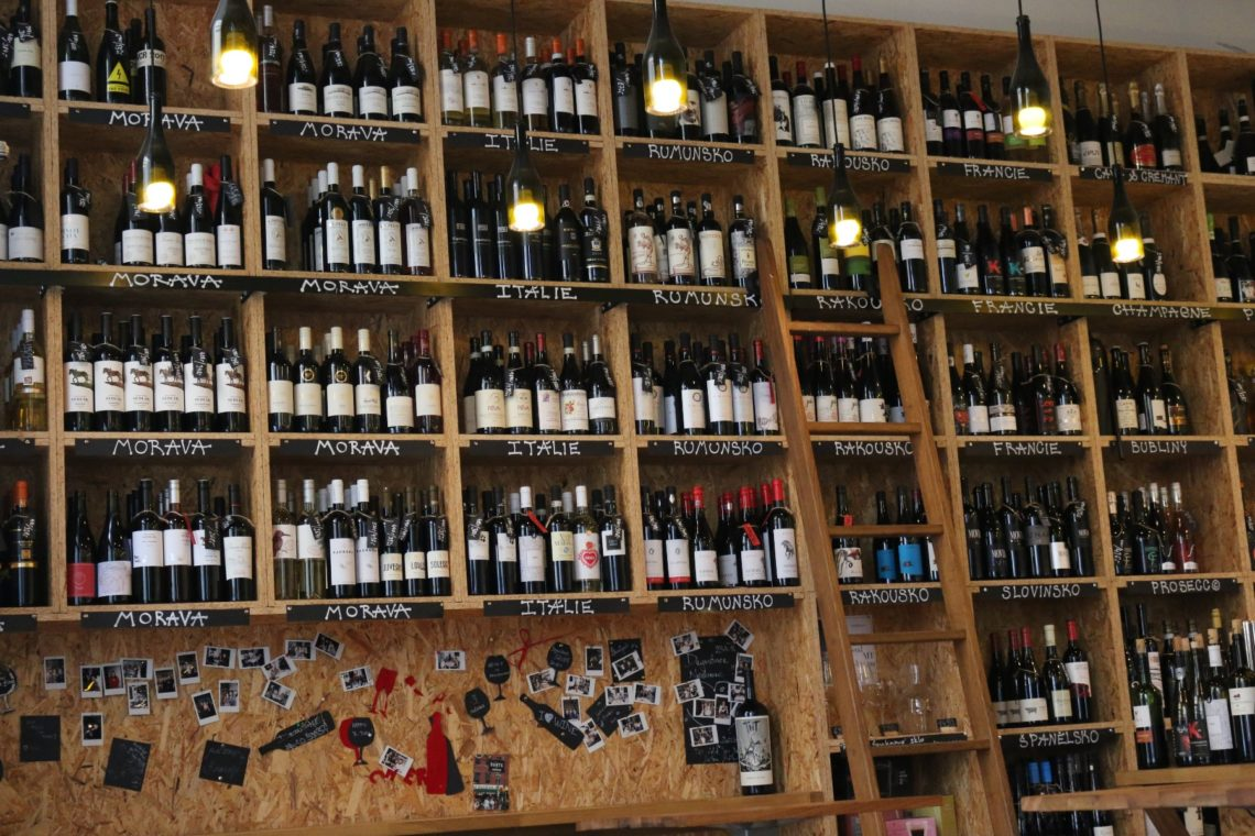 Wine Wall at  Just Wine,