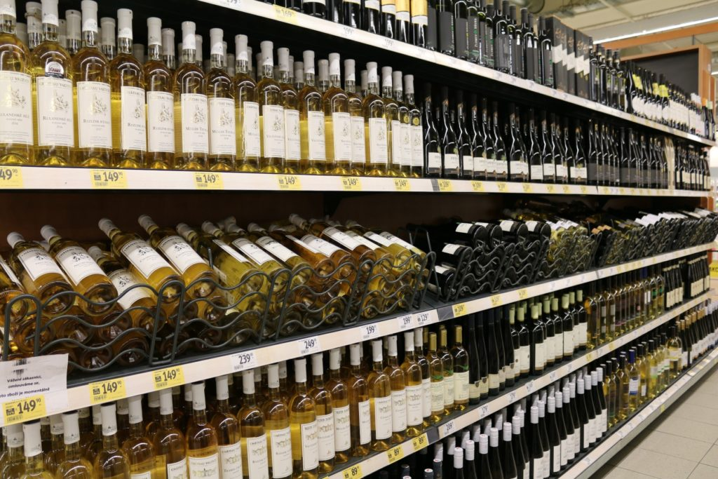Wine Aisle at Albert Supermarket