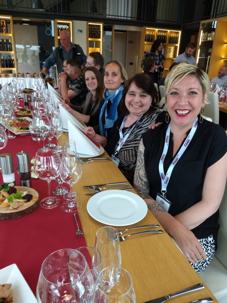 A pleasure to be seated amongst these amazing women in the wine industry Left to right : Myself, Adriana Harandzova, Annemarie Morse and Michele Padberg.  Photo Credit : Annemarie Morse