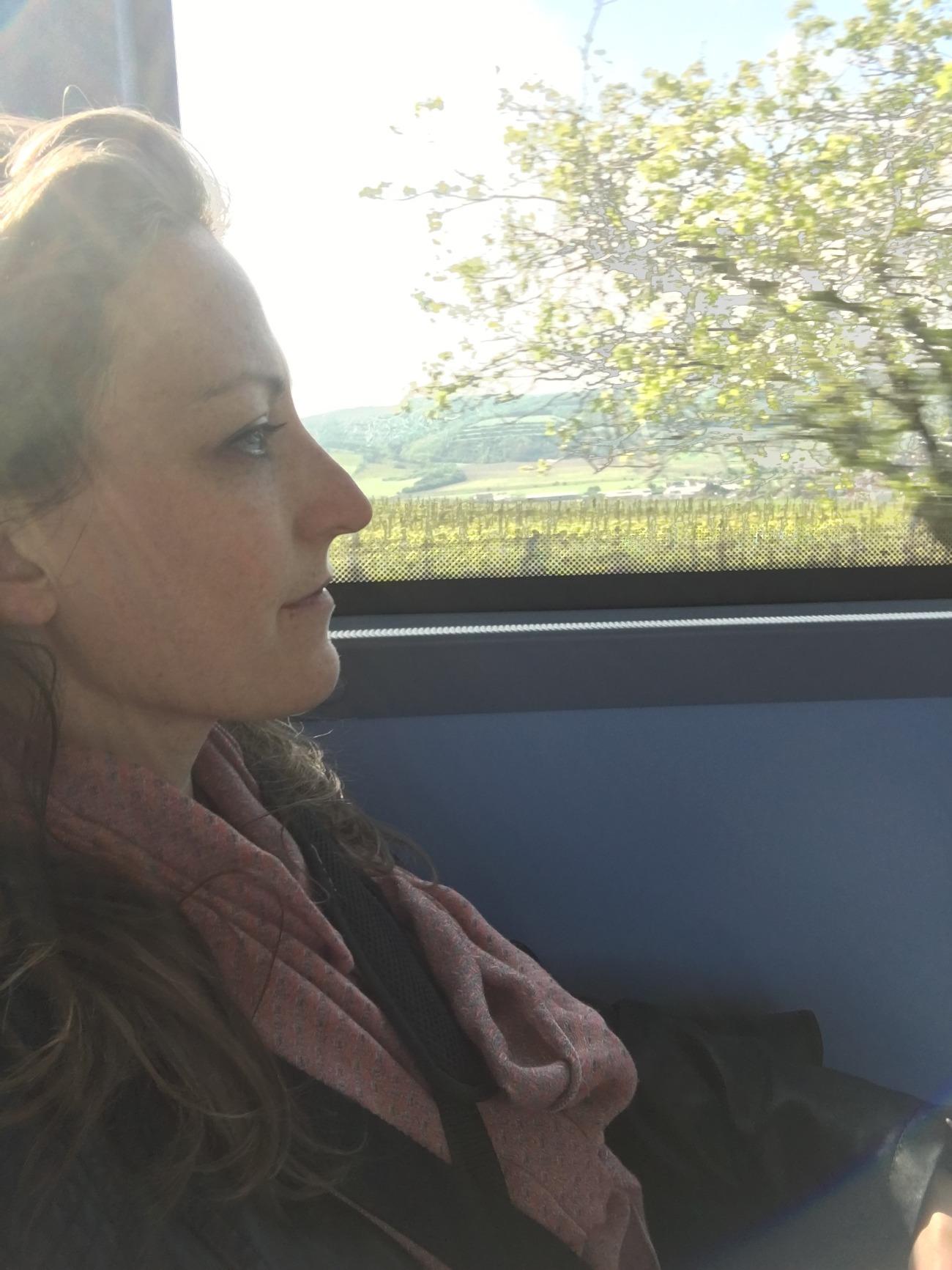 On the bus to J. Stávek winery in Němčičky