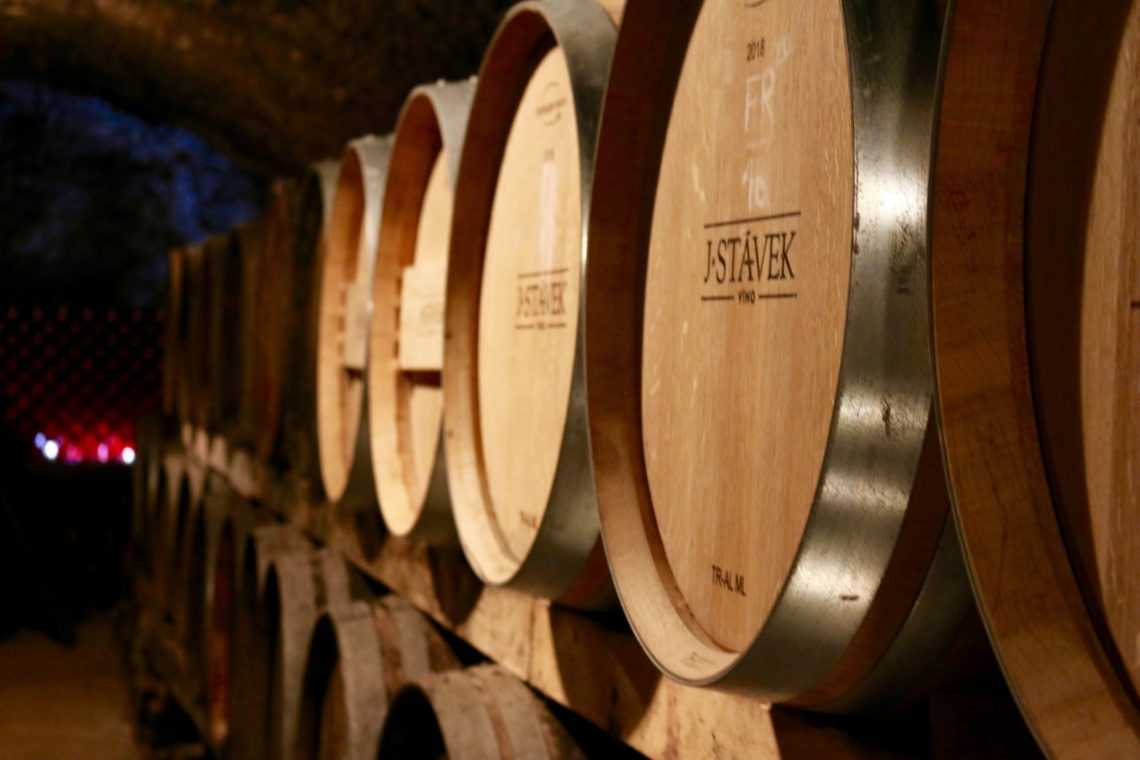 Original Barrel Room at J. Stávek Winery