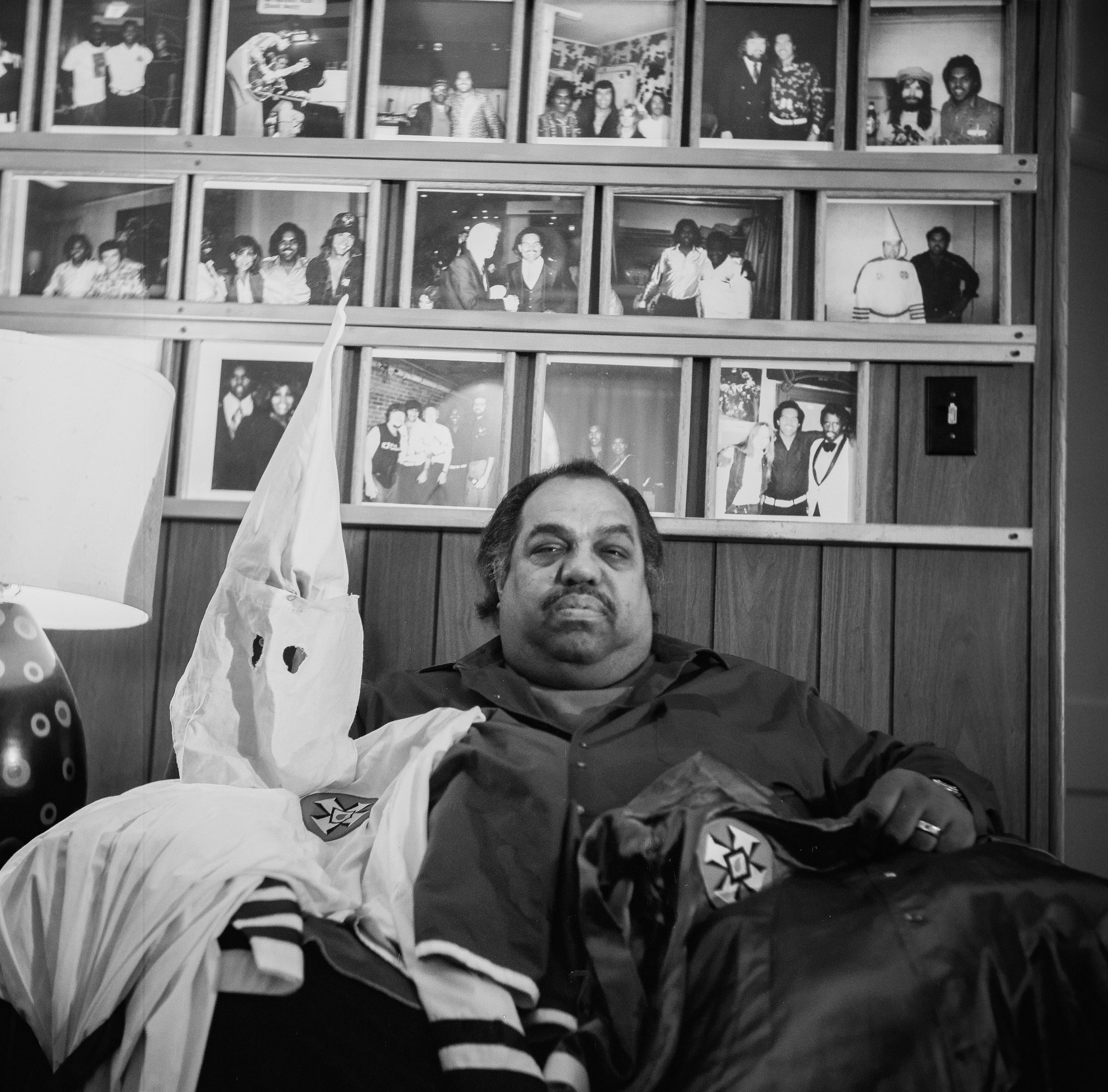 Daryl Davis poses with his robes