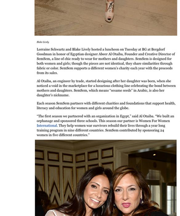 FEATURED: Forbes February 2016    https://www.forbes.com/sites/bettinazilkha/2016/02/10/lorraine-schwartz-and-blake-lively-host-a-luncheon-for-semsems-abeer-al-otaiba/#22aa76454f17