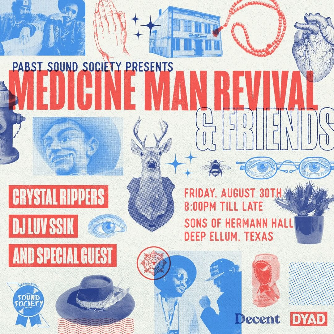 how to be social community calendar medicine man revival and friends