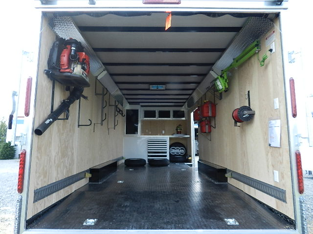 Cargo Management - Maximize space and efficiency in your cargo trailer by installing one of many trailer  cargo accessories. We also supply and install LED lighting to make your job a little easier.