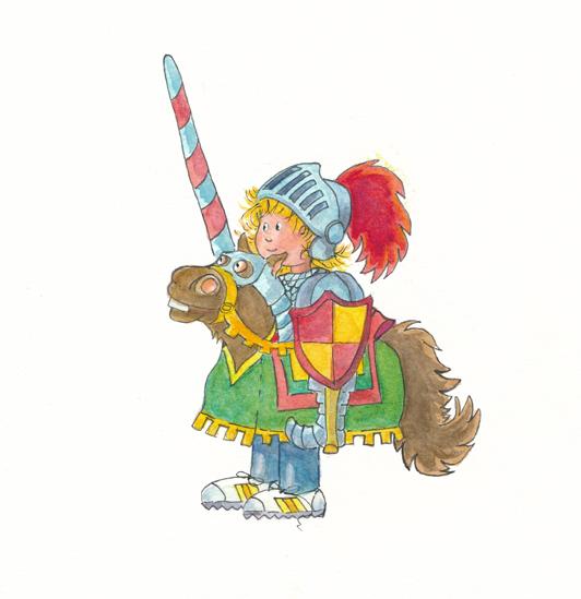 knight costume watercolour clean