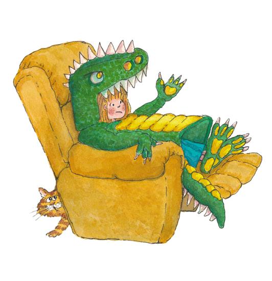 dragon costume watercolour clean