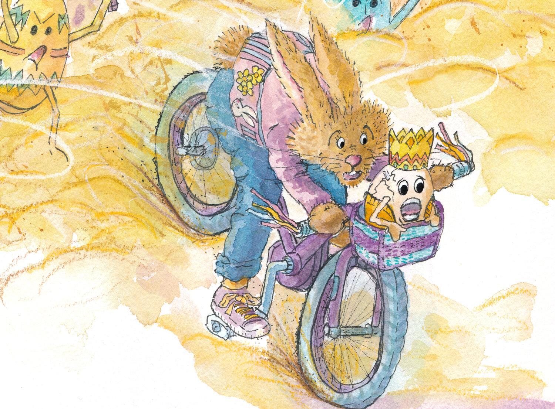 Rabbit and Egg King Detail