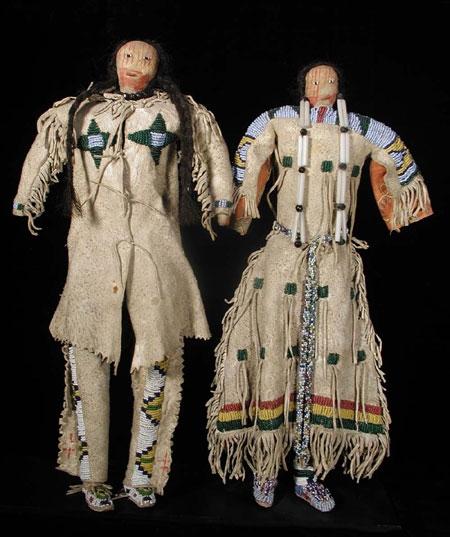 Cheyenne Beaded Dolls