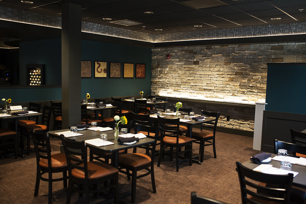 - Our newly expanded dining room offers space for both buffet style receptions as well as formal seated dinners.