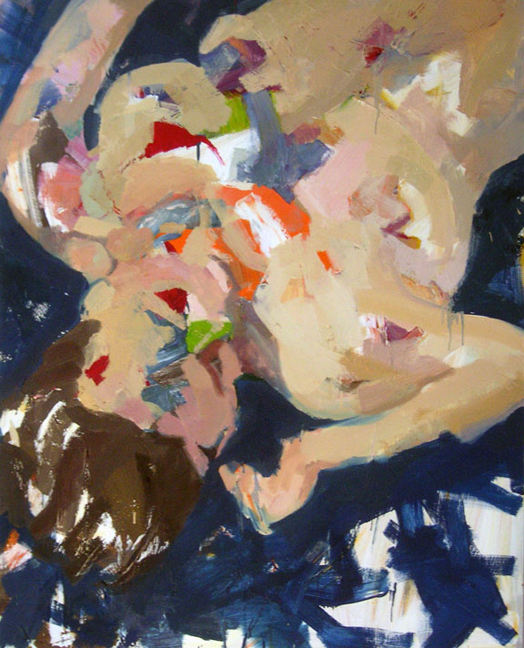 Undertow  Oil on acrylic on canvas, 60 x 48 inches, 2005  Inquire   Painted from life in Spring 2004 at the New York Studio School of Angela, a model we worked with throughout the semester.