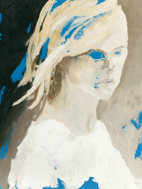 Ghost Blonde  Acrylic on canvas, 24 x 18 inches, 2012  Inquire