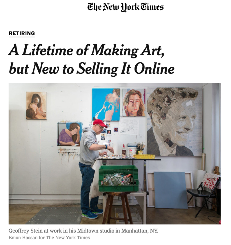 A Lifetime of Making Art, but New to Selling it OnlineAmy Zipkin, New York TimesFebruary, 2018 -