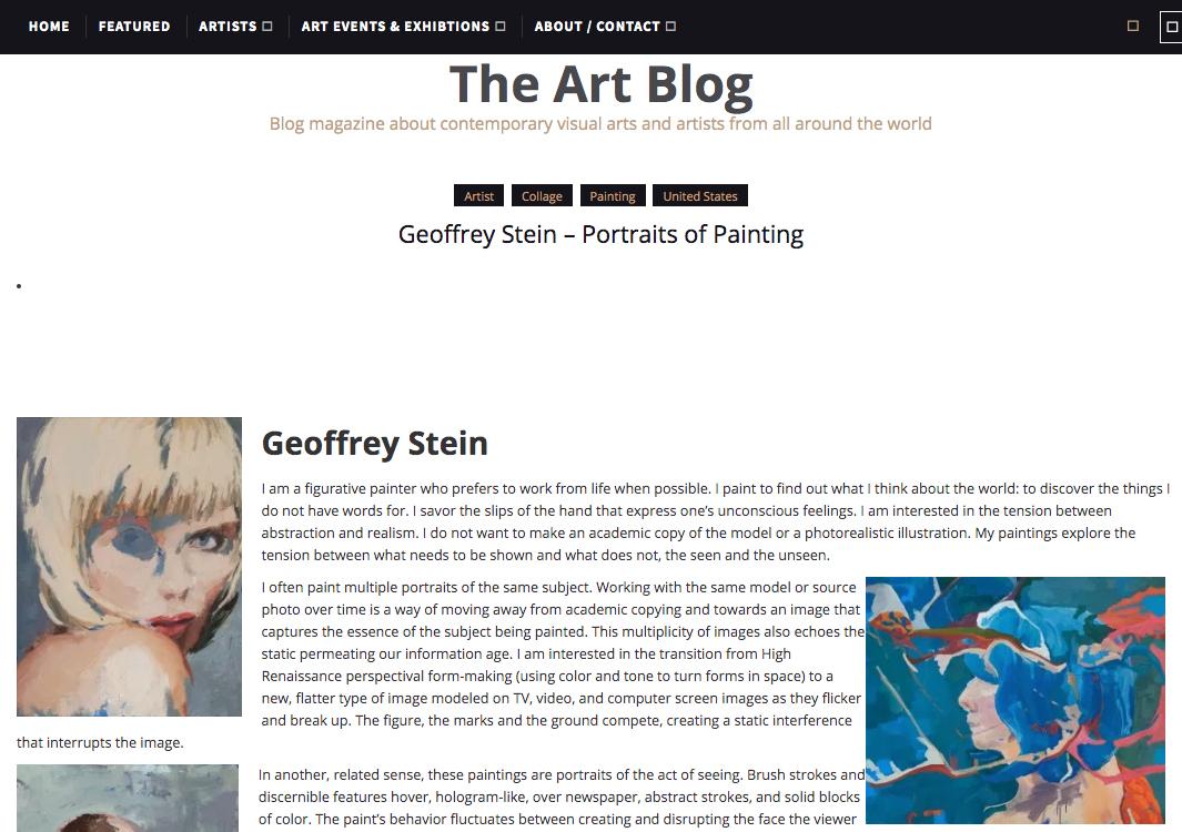 Geoffrey Stein: Portraits of PaintingThe Art BlogApril 3, 2014 -