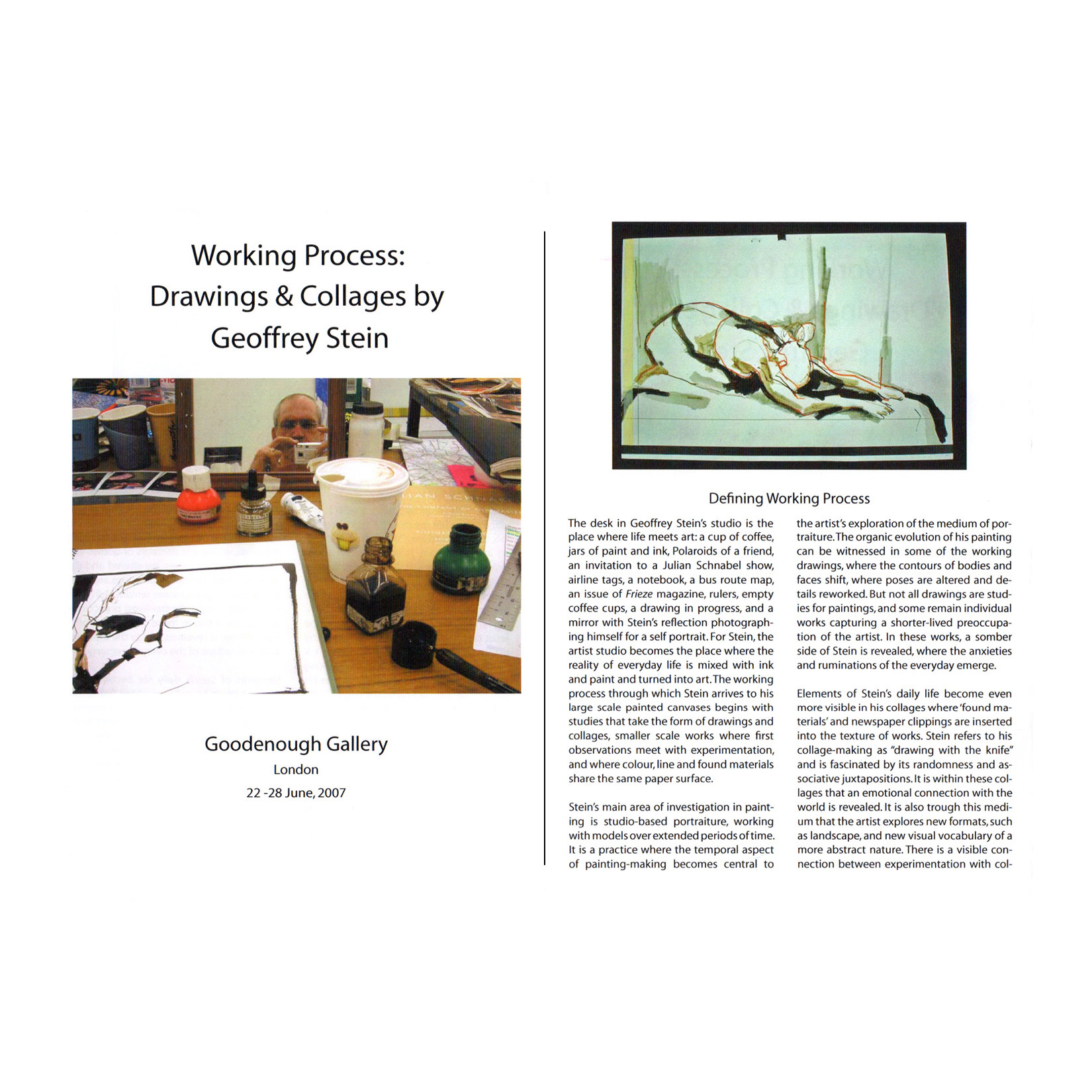 Working Process: Drawings and Collages by Geoffrey SteinBy Adelina VlasJune, 2007 -