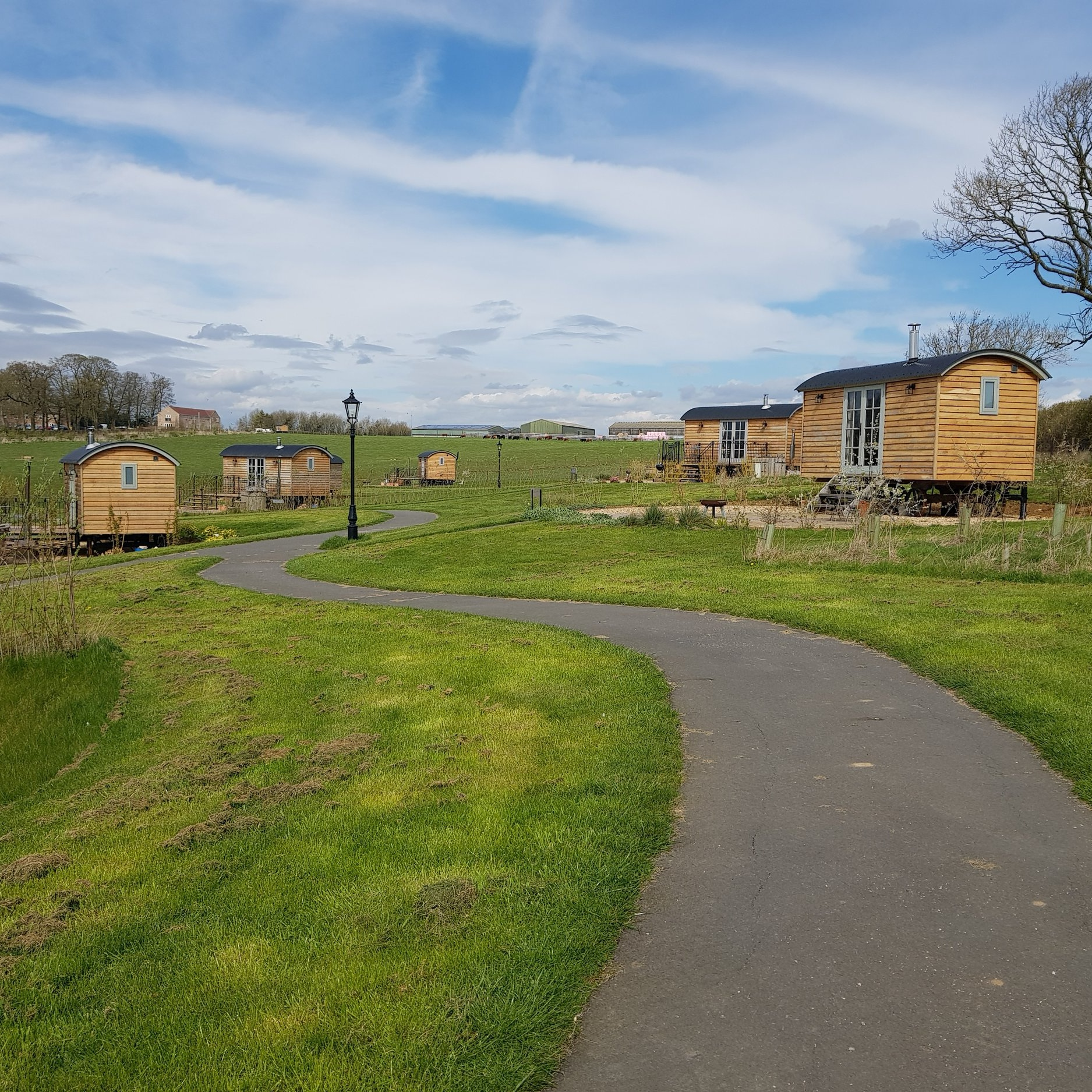 Glampsite design - View our completed glamping and holiday site projects for commercial clients.