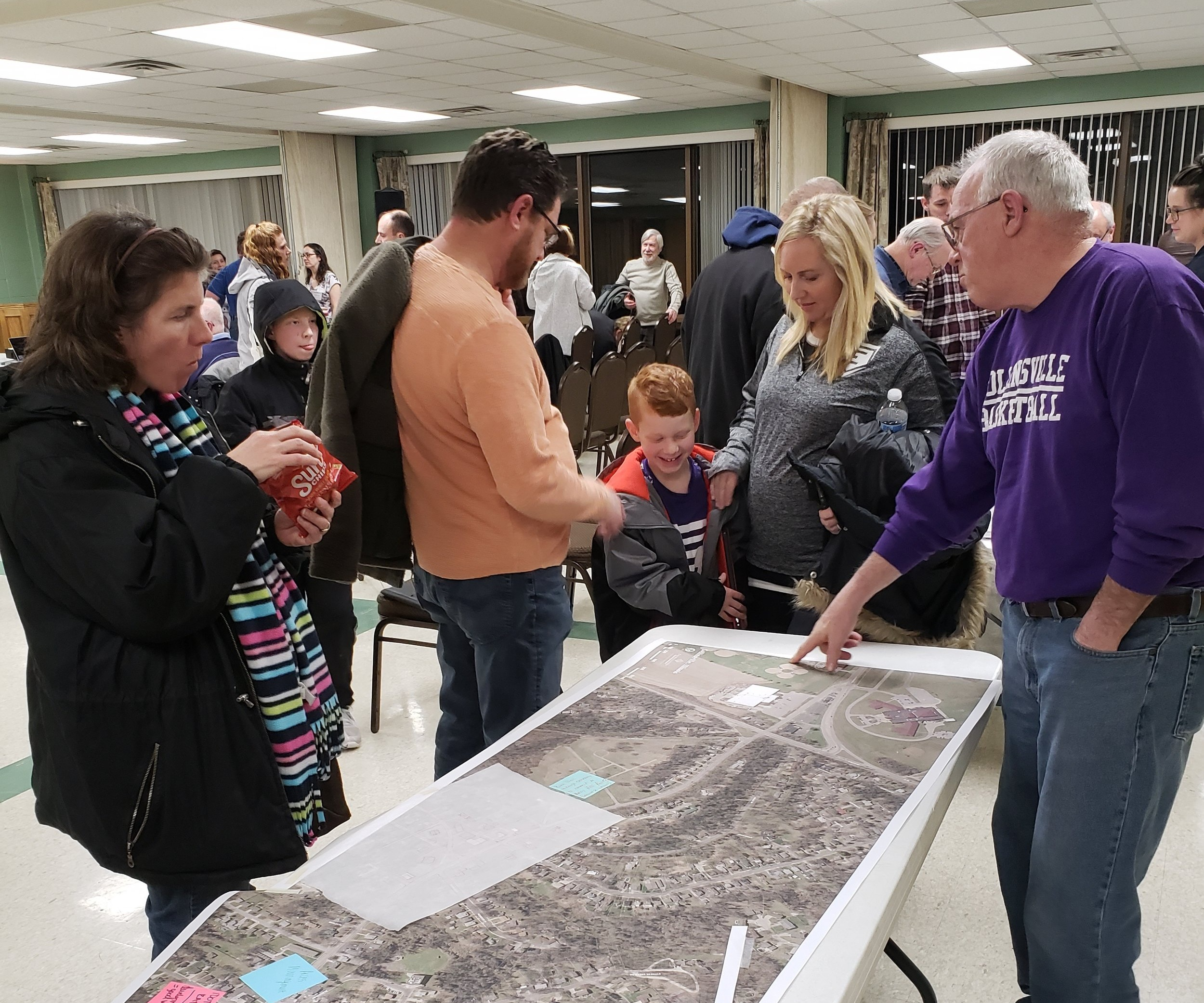 Attendees at the community charrette.