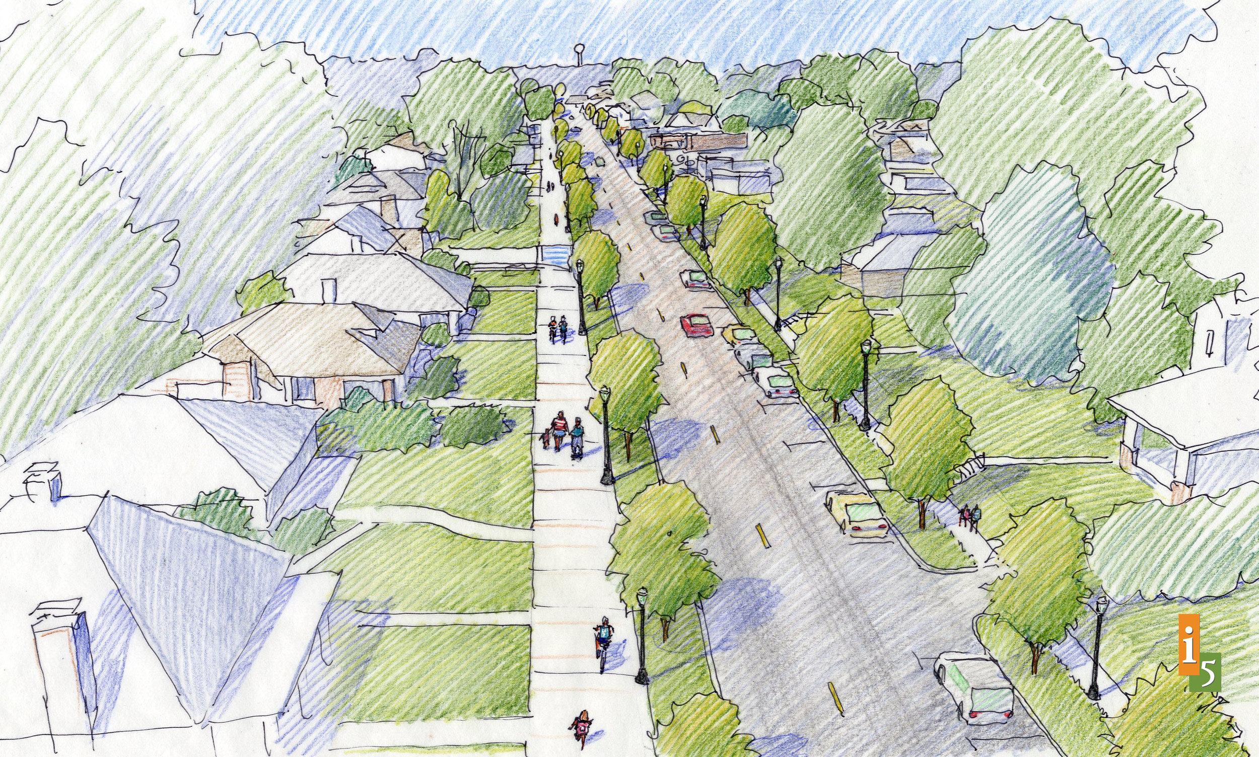 Proposed concept along St. Louis Road.