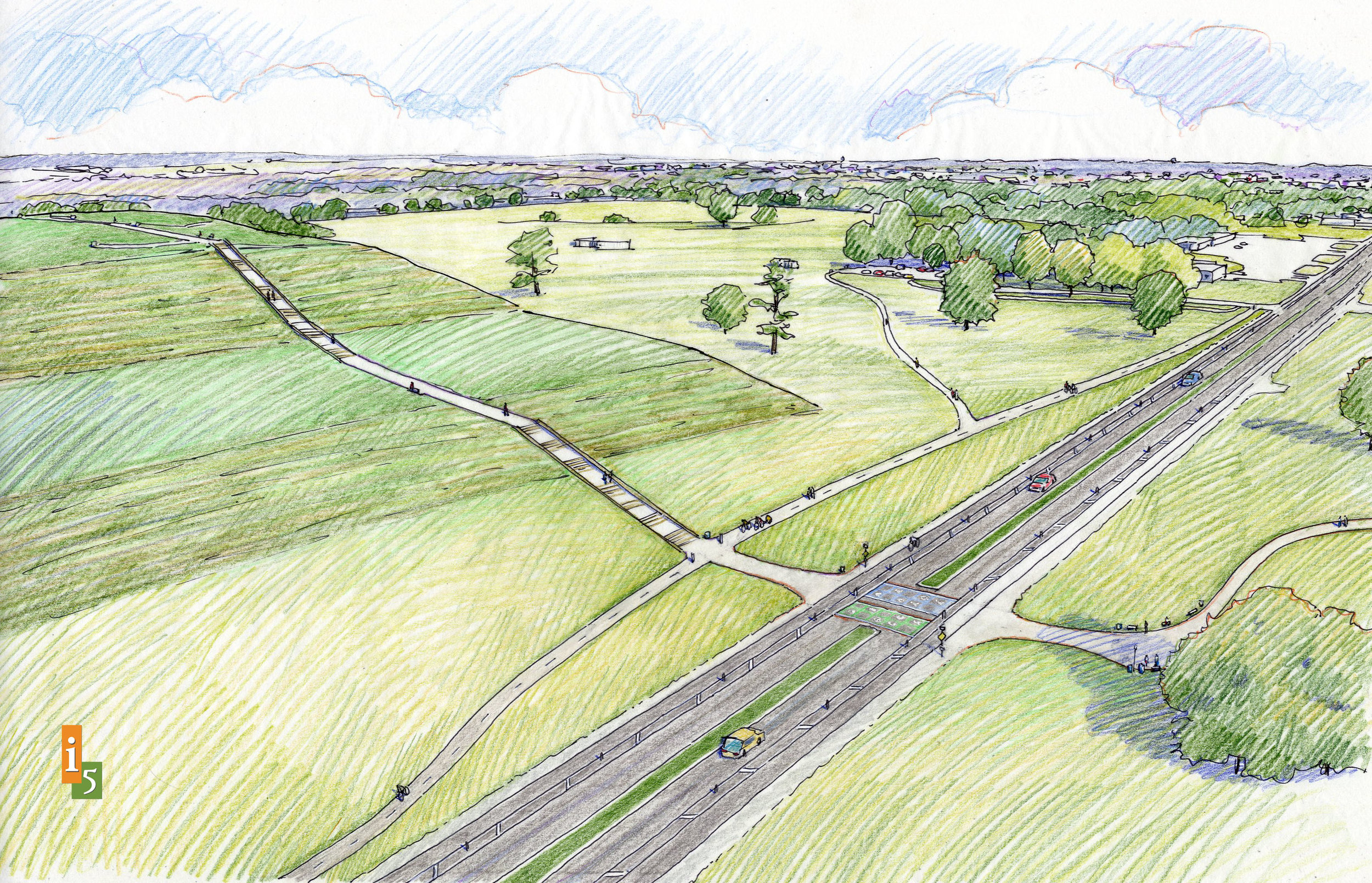 Proposed concept near Monks Mound.