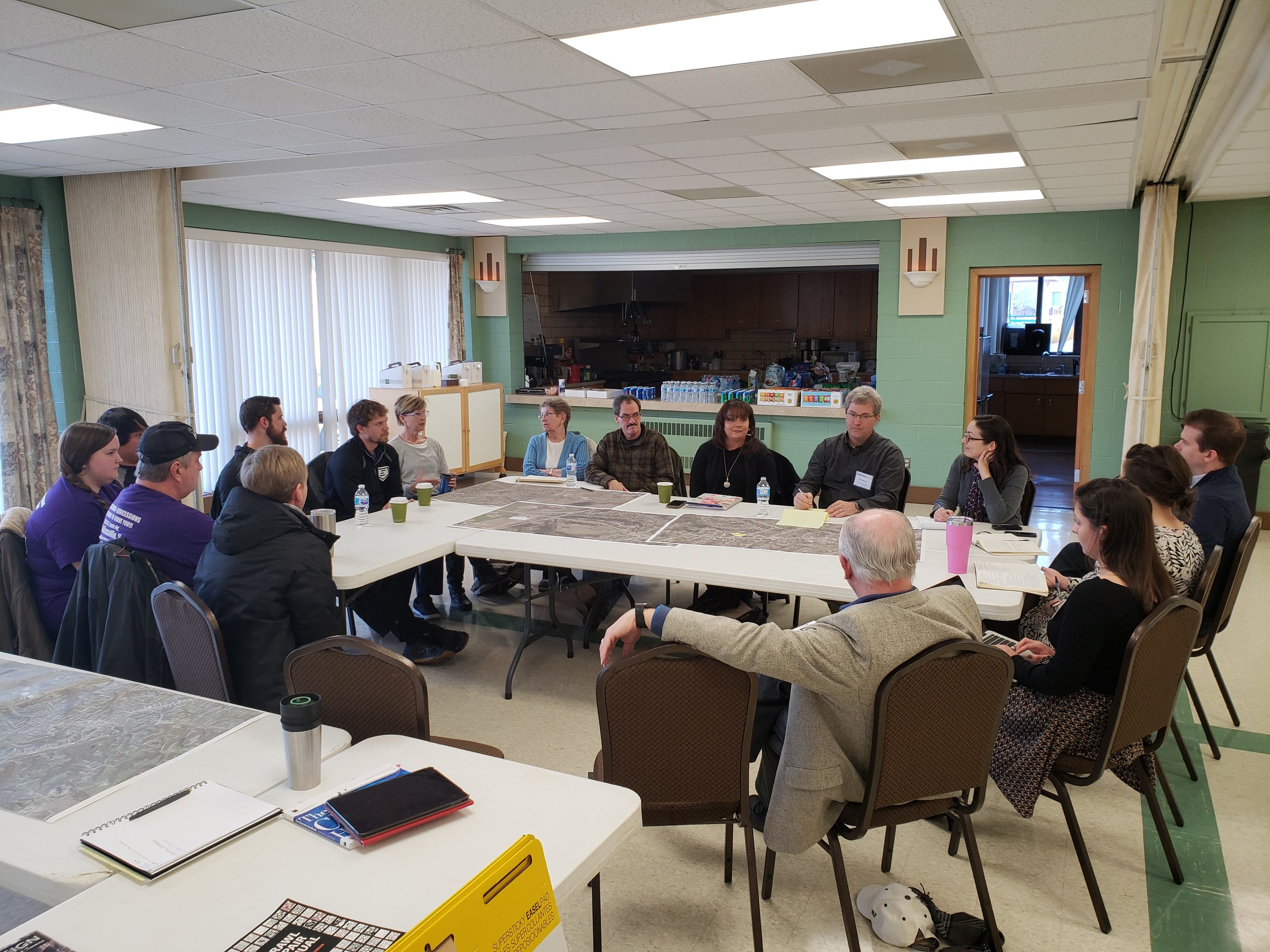 Focus group meeting during the community charrette.