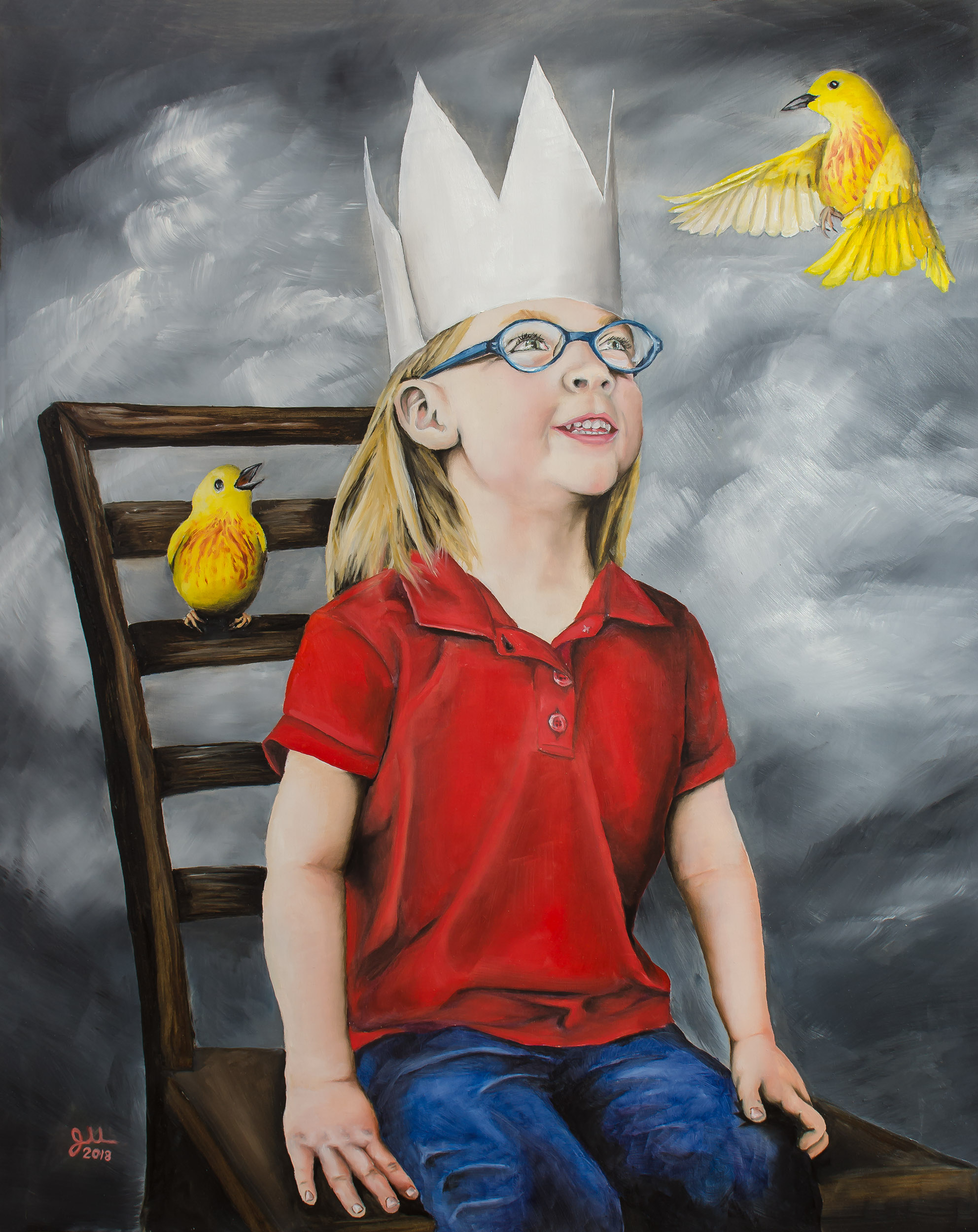 """THE QUEEN   Oil on aluminum panel, 16x20"""", 2018  Selection for the 2018 Annual Juried Exhibition, MacRostie Art Center, Grand Rapids, MN"""