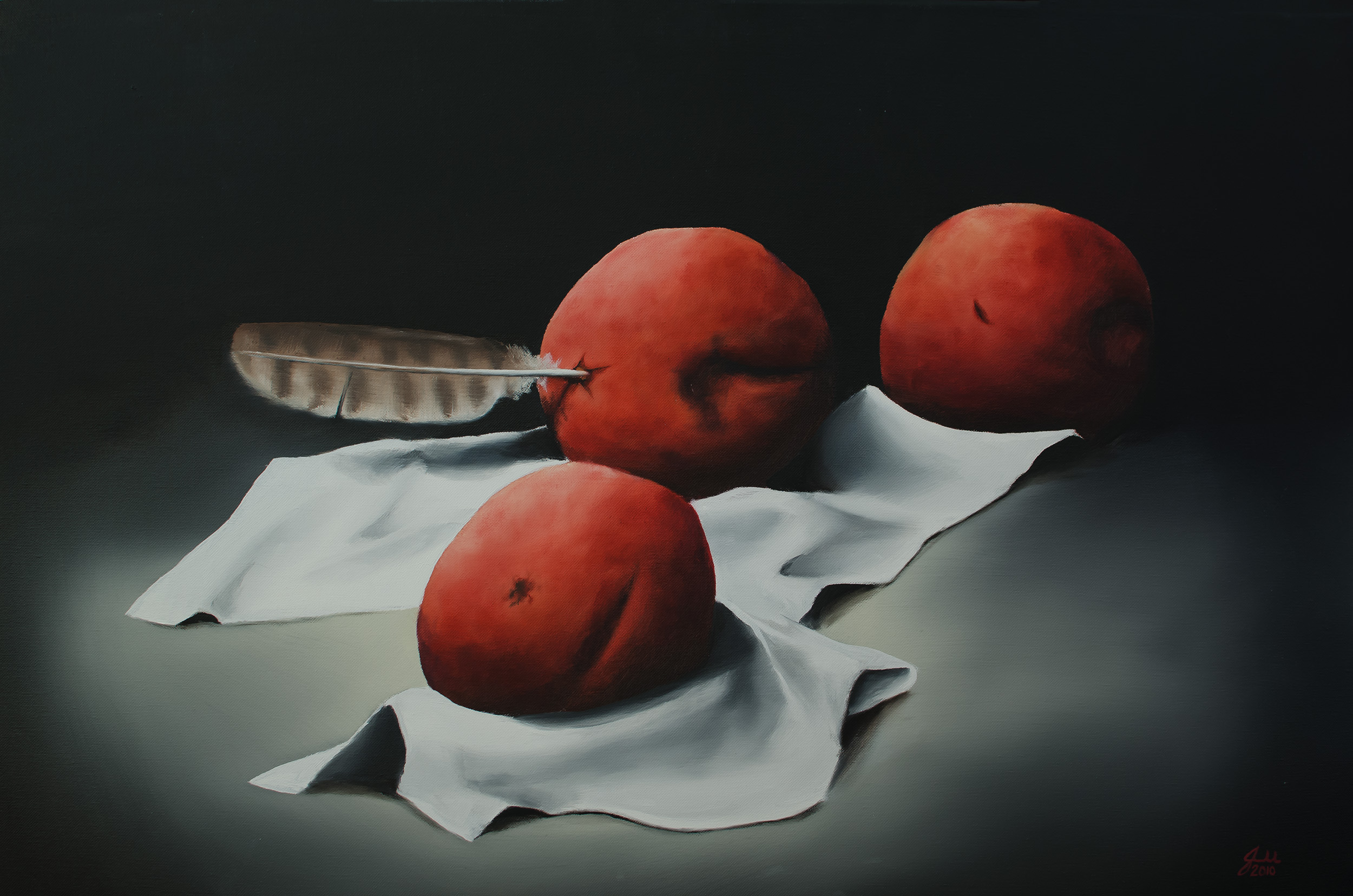 """NIKE   Oil on canvas, 24x36"""", 2010"""