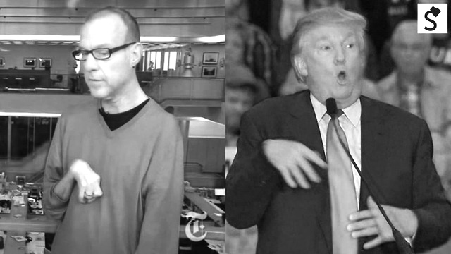 Trump making fun of an handicapped reporter at a rally. Disgraceful.