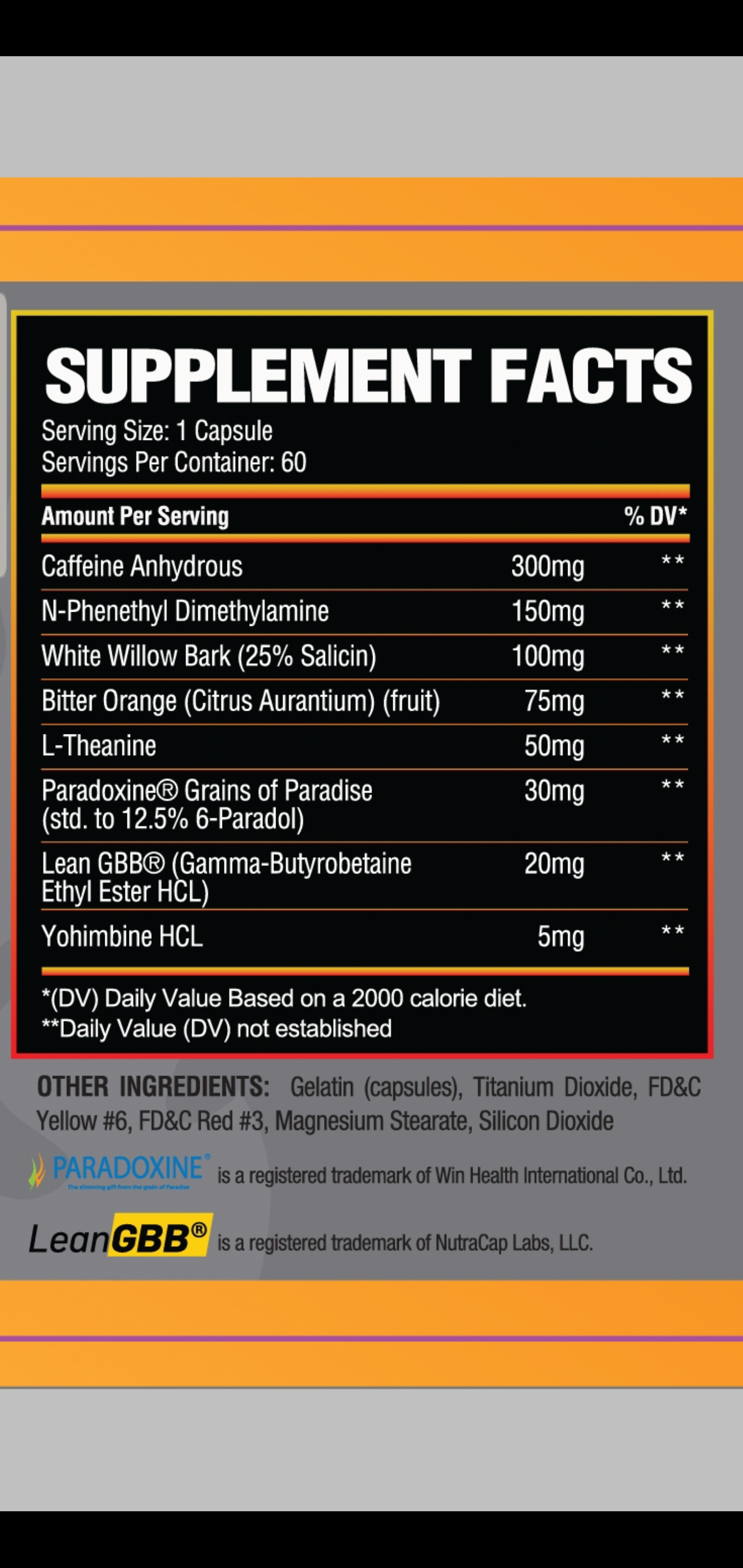 Full Label Transparency/Clinically Proven Ingredients
