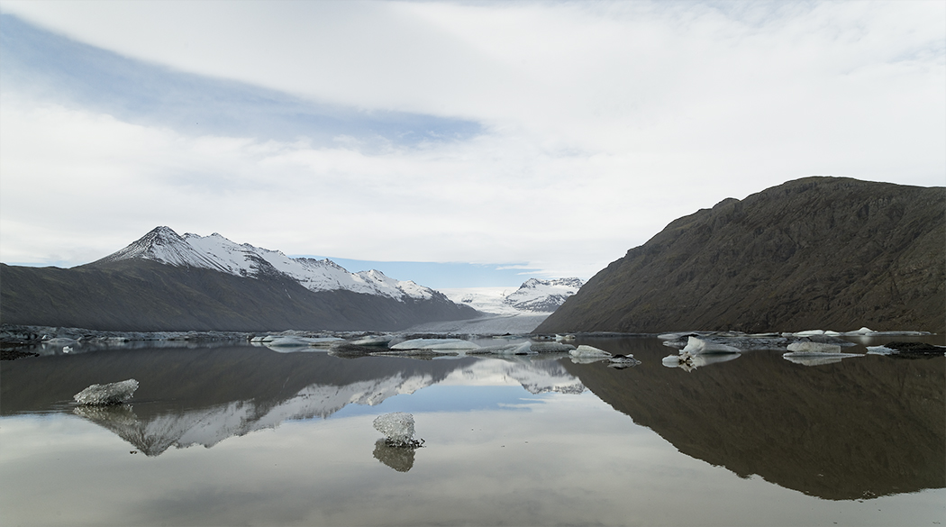 Reflection Of Glacier