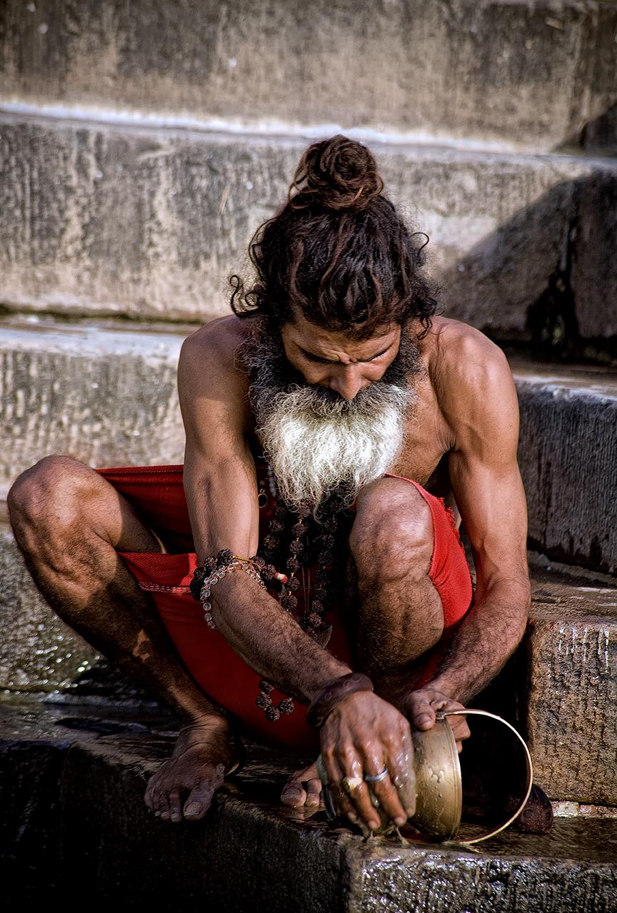 Man by Ganges