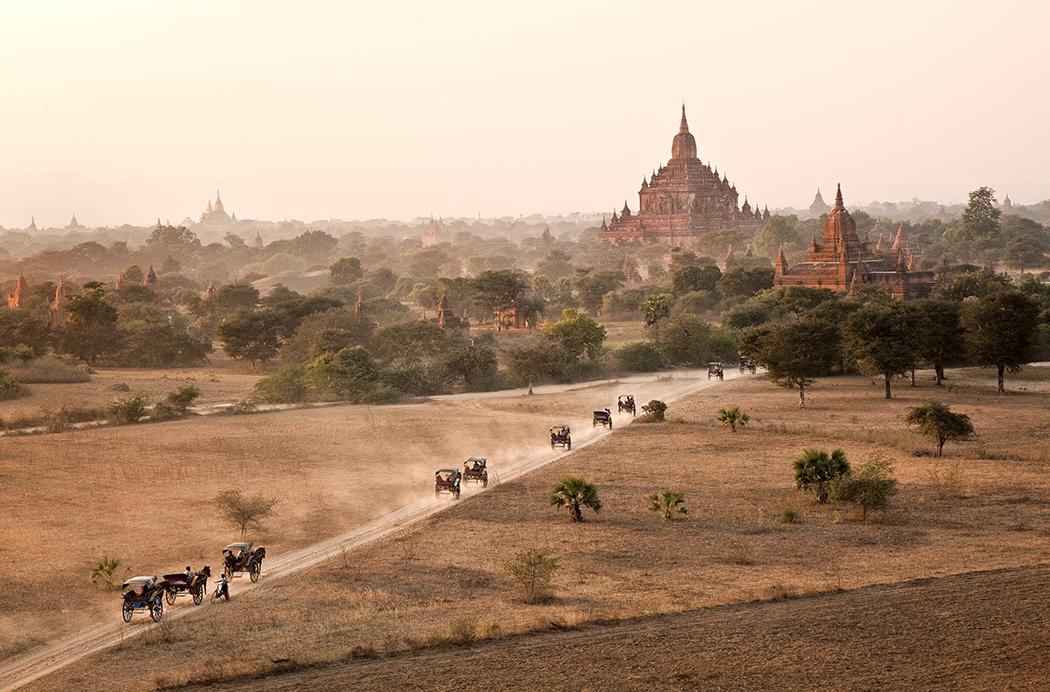 Buggies in Bagan