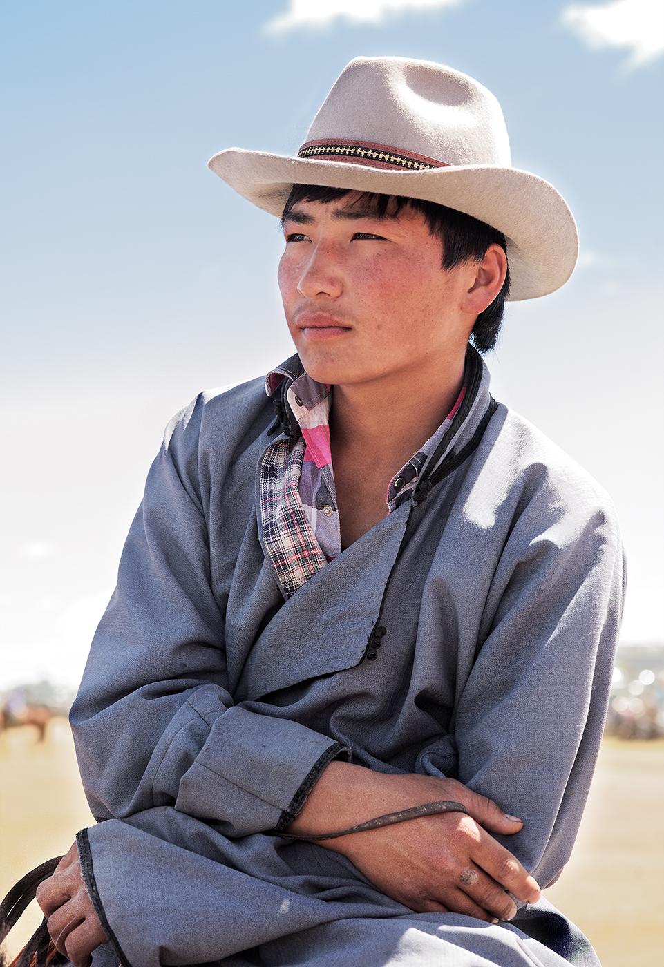 Mongolian Cowboy at Rest